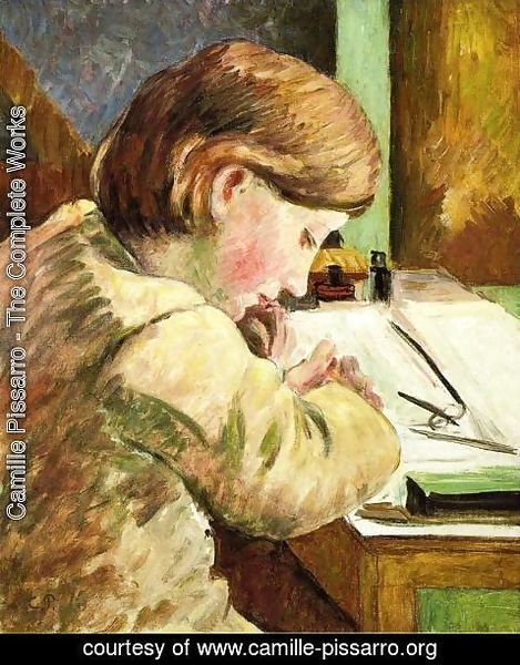 Camille Pissarro - Paul Writing, c.1894