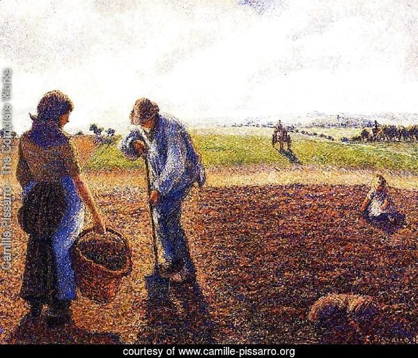 Peasants in the Field, Eragny, 1890
