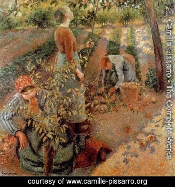 Camille Pissarro - The Apple Pickers, 1886