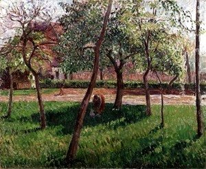 Camille Pissarro - Walled Garden at Eragny, 1895