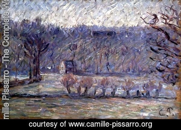 Camille Pissarro - The Hill at Vaches, Bazincourt, c.1890