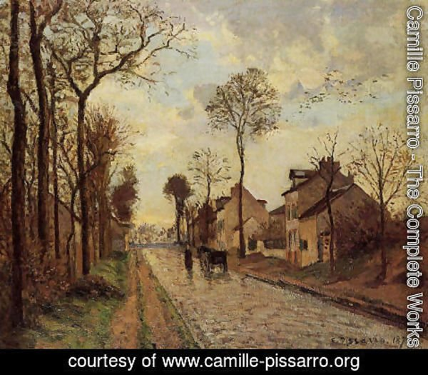 Camille Pissarro - The Louveciennes Road, 1870