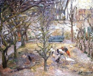 Camille Pissarro - The Farmyard, 1877
