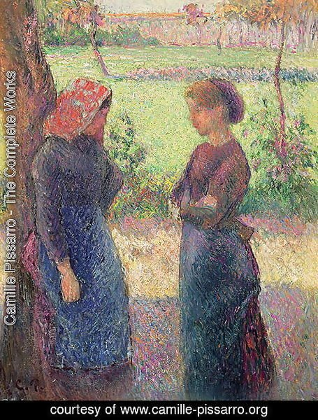 Camille Pissarro - The Chat, c.1892