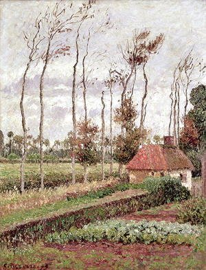 Camille Pissarro - Landscape at Varengeville, Grey Weather, 1899