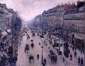 Camille Pissarro - Boulevard Montmartre, Morning, Cloudy Weather, 1897
