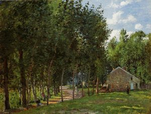 Camille Pissarro - The House in the Forest, 1872