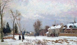 Camille Pissarro - Road from Versailles to Saint-Germain, Louveciennes, and effects of snow, 1872