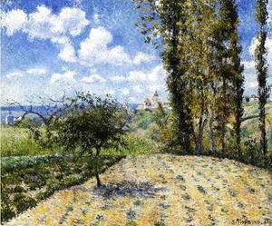 Camille Pissarro - View Towards Pontoise Prison, in Spring, 1881