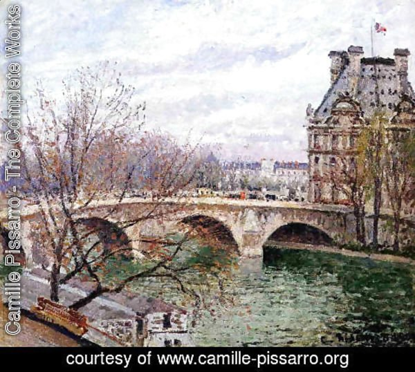 Camille Pissarro - The Pont-Royal and the Pavillon de Flore, 1903