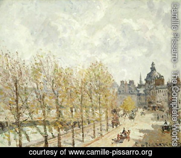 Camille Pissarro - The Malaquais Quay in the Morning, Sunny Weather, 1903