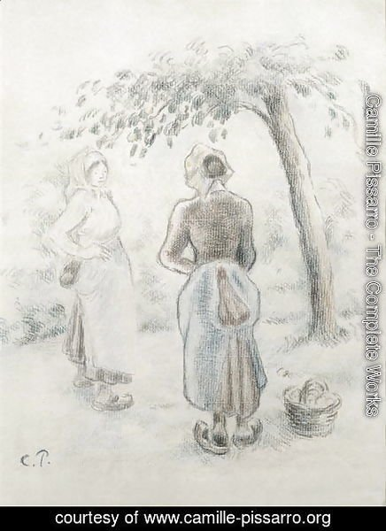 Camille Pissarro - The Woman under the Apple Tree, c. 1896