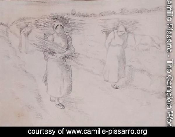 Camille Pissarro - The Faggot Gatherers, c.1896