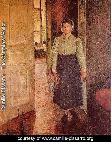 Camille Pissarro - A Young Maid