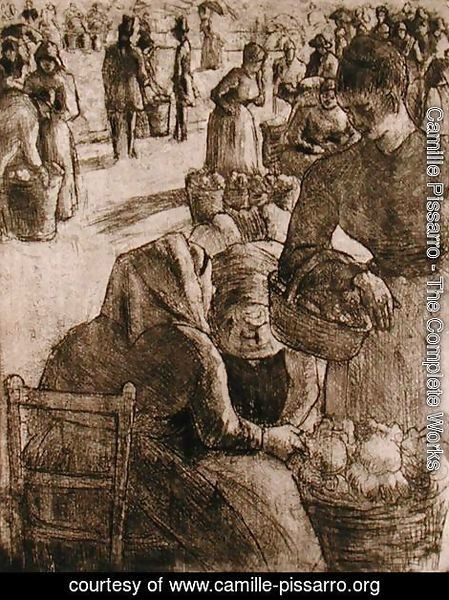 The Vegetable Market at Pontoise, 1891
