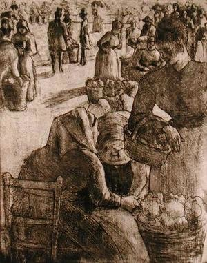 Camille Pissarro - The Vegetable Market at Pontoise, 1891