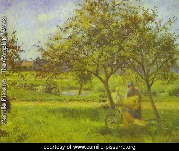 The Wheelbarrow, Orchard, c.1881