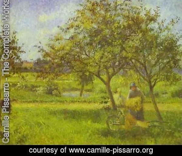 Camille Pissarro - The Wheelbarrow, Orchard, c.1881