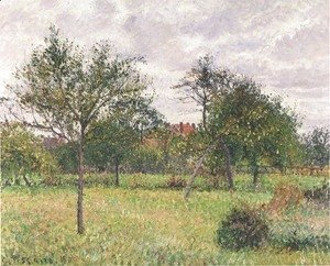 Camille Pissarro - Autumn Morning, Cloudy, Eragny, 1900