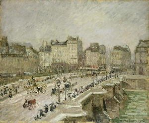Camille Pissarro - Pont Neuf, Snow Effect, 2nd Series, 1902