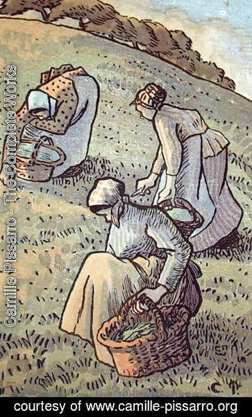 Camille Pissarro - Women Gathering Mushrooms, from 'Travaux des Champs',  1893