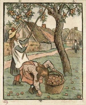Camille Pissarro - Gathering Apples, from 'Travaux des Champs',  1893