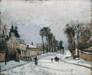 Camille Pissarro - The Versailles Road at Louveciennes, 1869