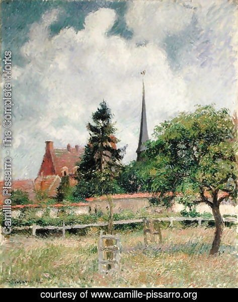 The Church at Eragny, 1884