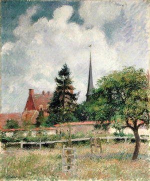 Camille Pissarro - The Church at Eragny, 1884