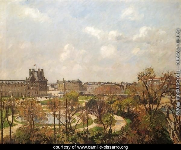 The Garden of the Tuileries, Morning, Spring, 1900