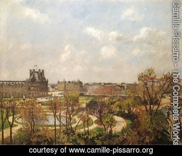 Camille Pissarro - The Garden of the Tuileries, Morning, Spring, 1900