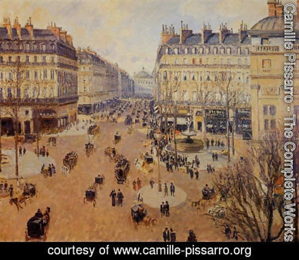 Camille Pissarro - Place du Theatre Francais, Afternoon Sun in Winter, 1898
