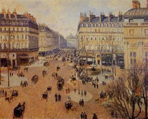 Place du Theatre Francais, Afternoon Sun in Winter, 1898