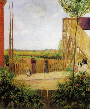 Camille Pissarro - The Footbridge, Bath Road, Bedford Park, 1897