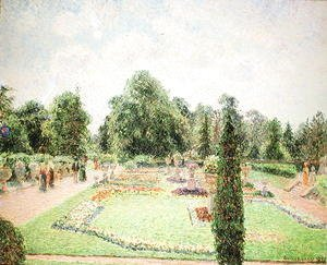 Camille Pissarro - Kew Gardens - Path to the Great Glasshouse, 1892