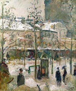 Boulevard de Rocheouart in Snow, 1878