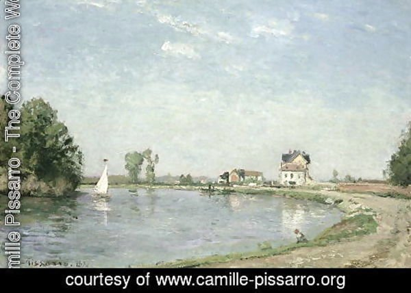 Camille Pissarro - At the River's Edge, 1871