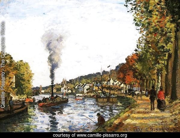 The Seine at Marly, 1871