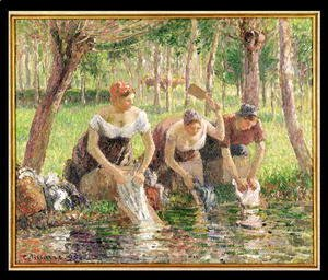 The Washerwomen, Eragny, 1895
