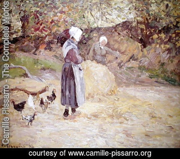 Camille Pissarro - Study of Peasants at Montfoucault, 1874