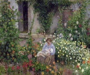 Camille Pissarro - Mother and Child in the Flowers, 1879