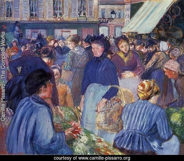 The Market at Gisons, 1889