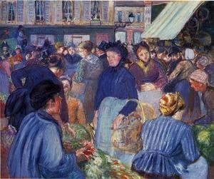 Camille Pissarro - The Market at Gisons, 1889