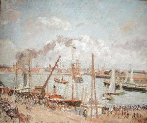 Camille Pissarro - The Port of Le Havre, Afternoon, Sun, 1903