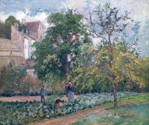 Camille Pissarro - Orchard at Maubisson, Pontoise, 1876