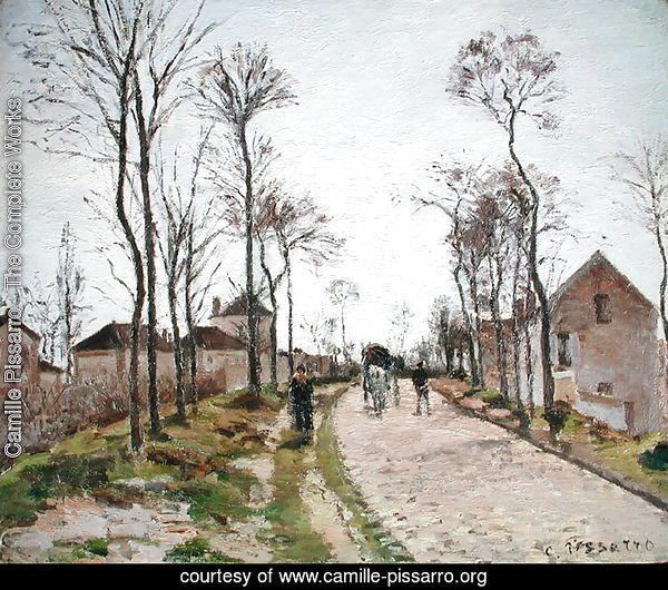 The Road to Saint Cyr at Louveciennes, c.1870