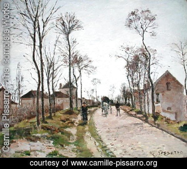 Camille Pissarro - The Road to Saint Cyr at Louveciennes, c.1870