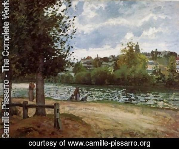 Camille Pissarro - The Banks of the Oise at Pontoise, 1870