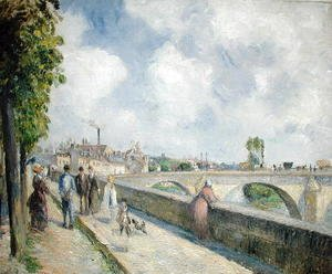 Camille Pissarro - The Bridge at Pontoise, 1878