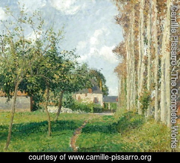 Camille Pissarro - Varengeville, the Manor Inn, Afternoon, 1889